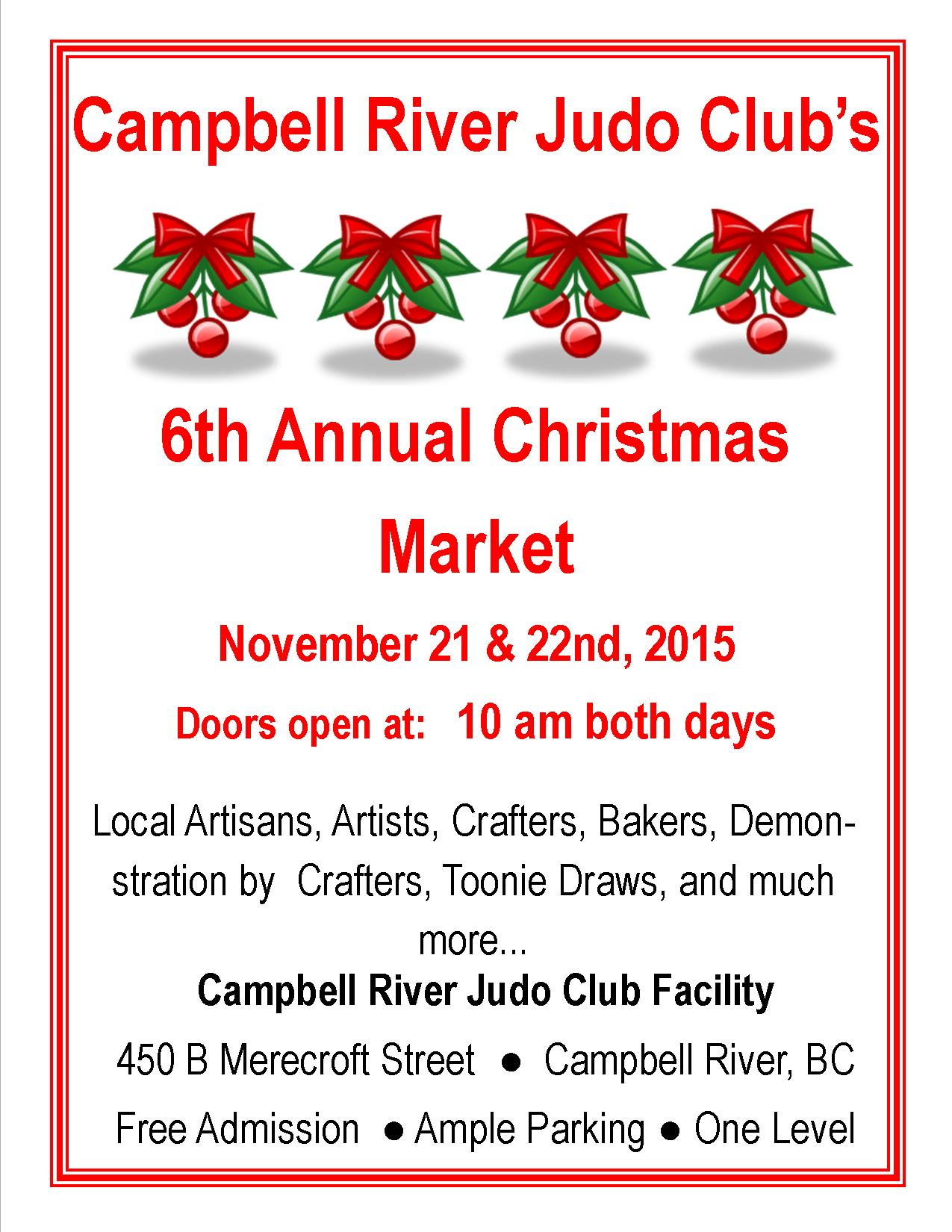 Campbell River Judo Club's 6th Annual Christmas Market - My Campbell
