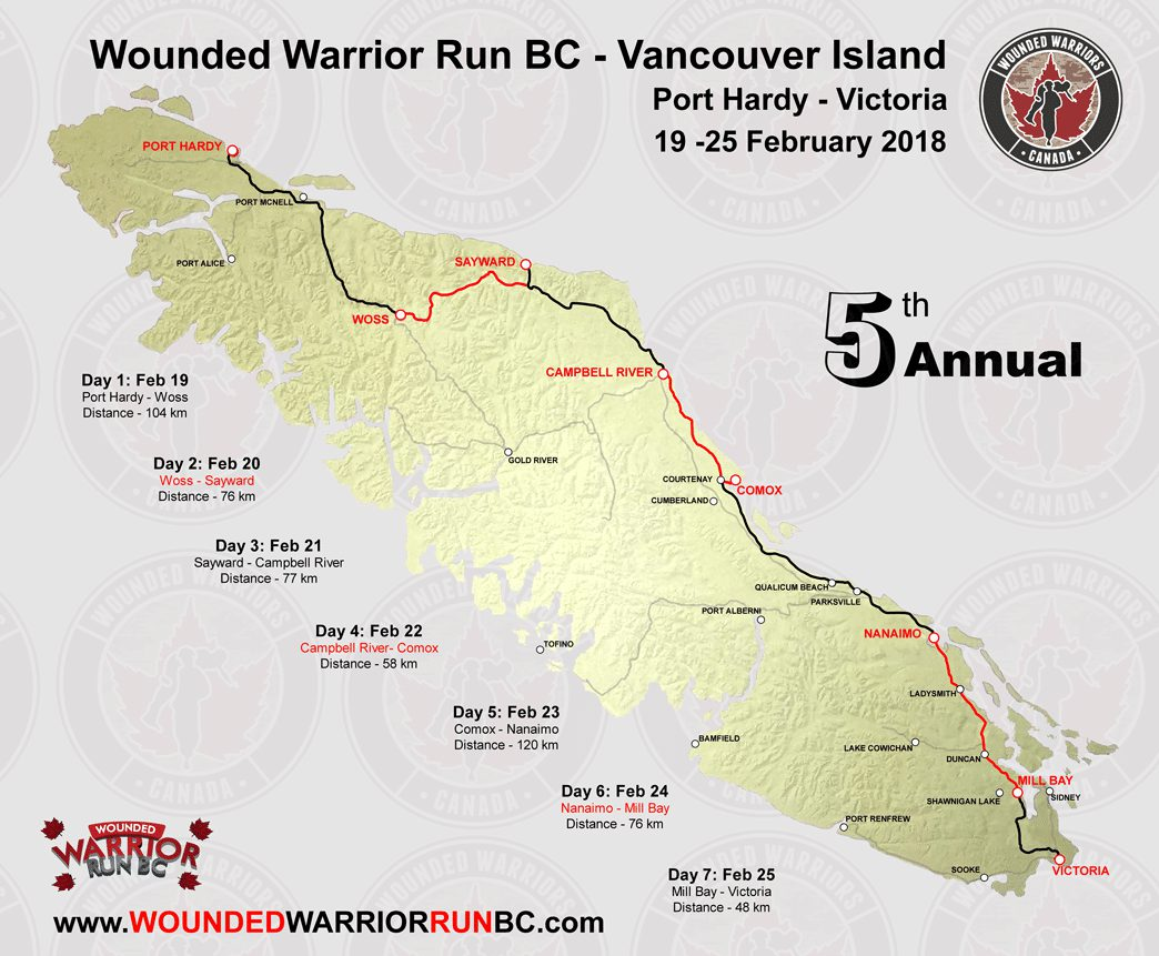 Wounded Warrior Run makes Campbell River stop My Campbell River Now