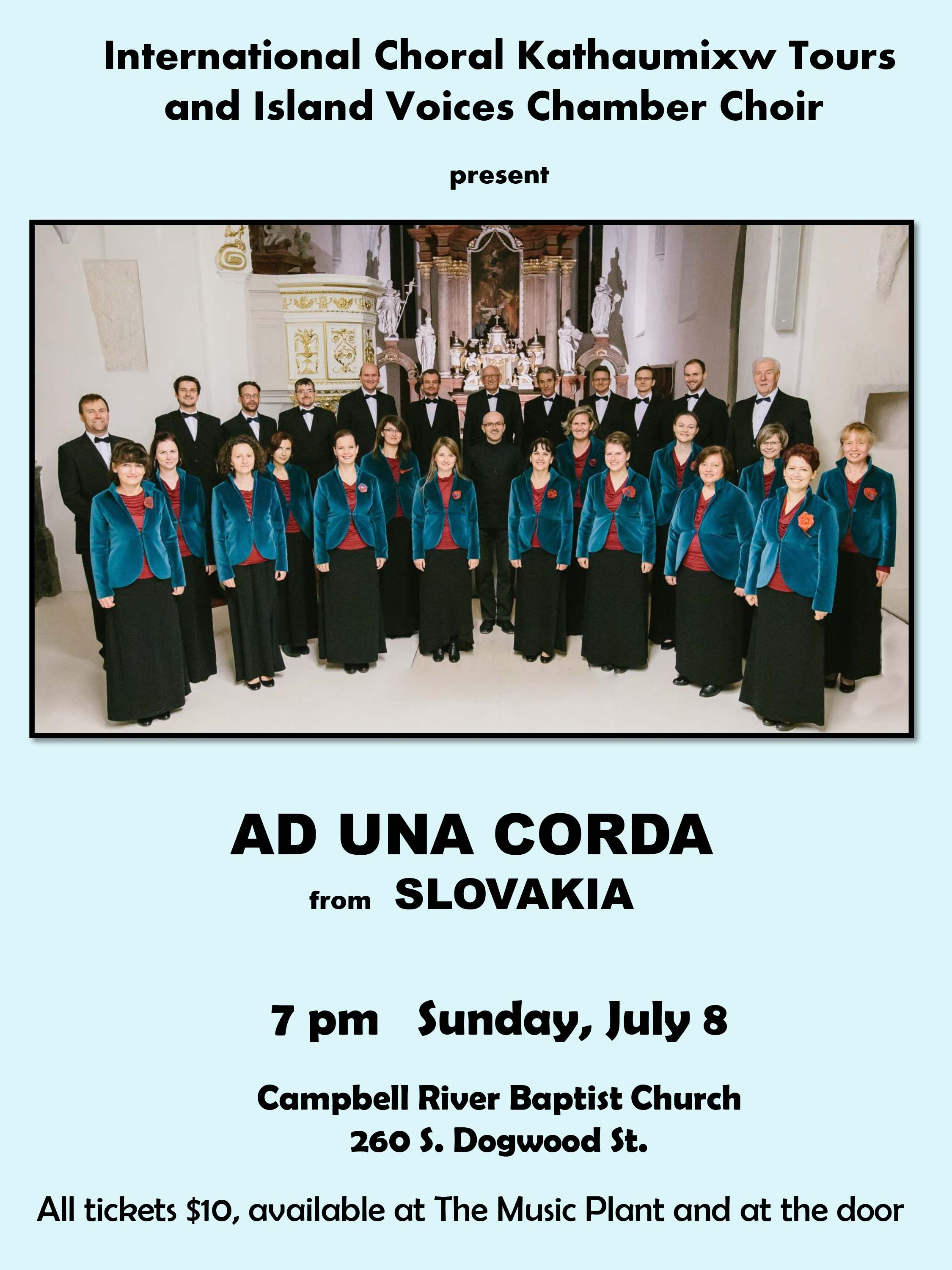 Kathaumixw Touring Choirs – Ad Una Corda – A Slovakian Adult Choir