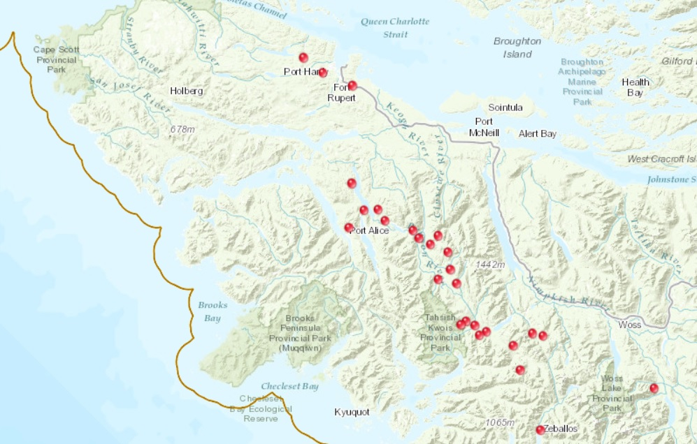 Northbay Fire Map.Small Wildfires Burning Across North Island My Campbell River Now